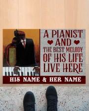 """the pianist Doormat 22.5"""" x 15""""  aos-doormat-22-5x15-lifestyle-front-10"""