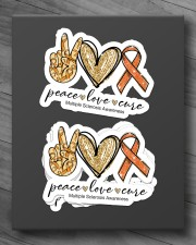 Peace love cure Sticker - 4 pack (Horizontal) aos-sticker-4-pack-horizontal-lifestyle-front-10