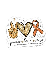 Peace love cure Sticker - 4 pack (Horizontal) front