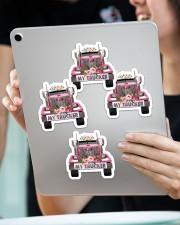 I love my trucker Sticker - 4 pack (Vertical) aos-sticker-4-pack-vertical-lifestyle-front-11