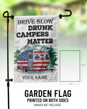 "Drunk Camper  11.5""x17.5"" Garden Flag aos-garden-flag-11-5-x-17-5-lifestyle-front-01"