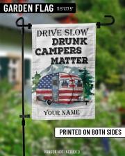 "Drunk Camper  11.5""x17.5"" Garden Flag aos-garden-flag-11-5-x-17-5-lifestyle-front-13"