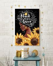 Black queen sunflower 11x17 Poster lifestyle-holiday-poster-3