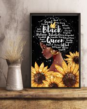 Black queen sunflower 11x17 Poster lifestyle-poster-3