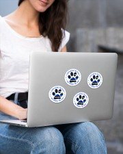 Supporting the paws Sticker - 4 pack (Vertical) aos-sticker-4-pack-vertical-lifestyle-front-15