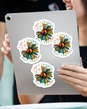 I got a peaceful easy feeling Sticker - 4 pack (Vertical) aos-sticker-4-pack-vertical-lifestyle-front-11