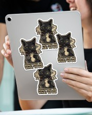 on't tell me what to do Sticker - 4 pack (Vertical) aos-sticker-4-pack-vertical-lifestyle-front-11