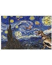 D20 Dinosaur starry night 17x11 Poster front