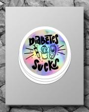 Diabetes Sucks Sticker Sticker - 4 pack (Vertical) aos-sticker-4-pack-vertical-lifestyle-front-09