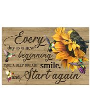 Every day is a new beginning 17x11 Poster front