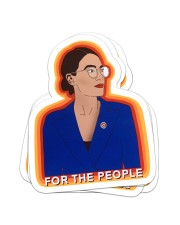 For the people Sticker - 4 pack (Vertical) front