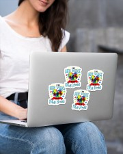 I am his voice he is my heart Sticker - 4 pack (Vertical) aos-sticker-4-pack-vertical-lifestyle-front-15