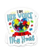 I am his voice he is my heart Sticker - 4 pack (Vertical) front
