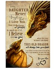To my daughter 11x17 Poster front