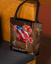 Puerto Rico Leather Pattern Print  All-over Tote aos-all-over-tote-lifestyle-front-02