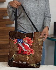 Puerto Rico Leather Pattern Print  All-over Tote aos-all-over-tote-lifestyle-front-10