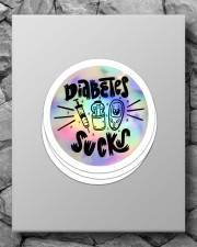 Diabetes Sucks Sticker - 4 pack (Vertical) aos-sticker-4-pack-vertical-lifestyle-front-09