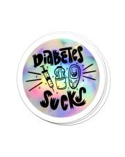 Diabetes Sucks Sticker - 4 pack (Vertical) front