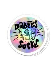 Diabetes Sucks Sticker Sticker - 4 pack (Vertical) front