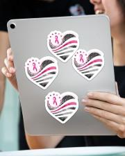 Breast cancer awareness Sticker - 4 pack (Vertical) aos-sticker-4-pack-vertical-lifestyle-front-11