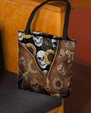 Skull and sunflower All-over Tote aos-all-over-tote-lifestyle-front-02