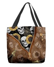 Skull and sunflower All-over Tote back