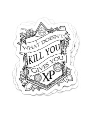 What doesn't kill you gives you XP Sticker - 4 pack (Vertical) front