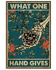 What One Hand Gives 11x17 Poster front