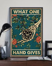 What One Hand Gives 11x17 Poster lifestyle-poster-2