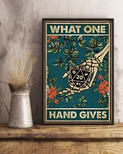 What One Hand Gives 11x17 Poster lifestyle-poster-3