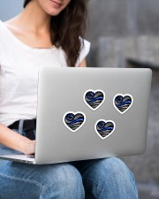 Back the blue  Sticker - 4 pack (Vertical) aos-sticker-4-pack-vertical-lifestyle-front-15