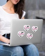 Breast cancer awareness Sticker - 4 pack (Vertical) aos-sticker-4-pack-vertical-lifestyle-front-15