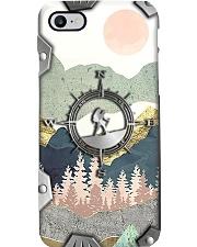 Hiking Metal Pattern Print Phone Case i-phone-8-case