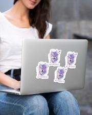 Fibromyalgia sticker Sticker - 4 pack (Vertical) aos-sticker-4-pack-vertical-lifestyle-front-15