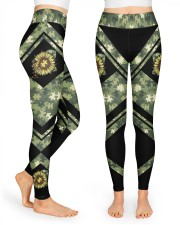 Autism Camouflage High Waist Leggings front
