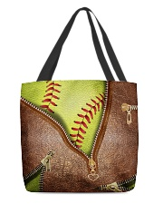 Softball tote  All-over Tote front