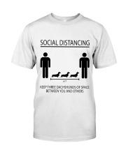 Social distancing dachshund Classic T-Shirt thumbnail