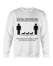 Social distancing dachshund Crewneck Sweatshirt thumbnail