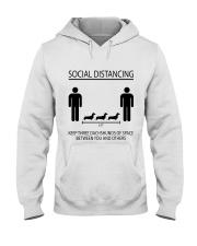 Social distancing dachshund Hooded Sweatshirt thumbnail