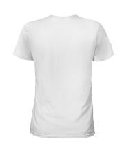 Social distancing dachshund Ladies T-Shirt back