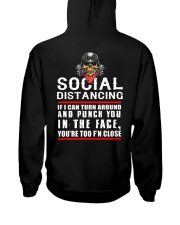 social distancing biker Hooded Sweatshirt thumbnail