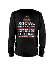 social distancing biker Long Sleeve Tee thumbnail