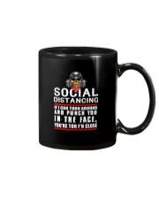 social distancing biker Mug thumbnail