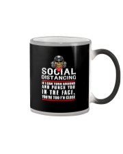 social distancing biker Color Changing Mug thumbnail