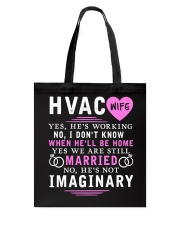HVAC WIFE ONLY T- SHIRT Tote Bag thumbnail