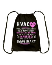 HVAC WIFE ONLY T- SHIRT Drawstring Bag thumbnail