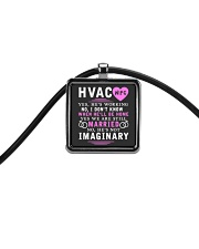 HVAC WIFE ONLY T- SHIRT Cord Rectangle Necklace thumbnail