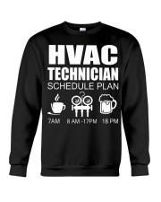 HVAC SCHEDULE PLAN Crewneck Sweatshirt thumbnail