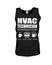 HVAC SCHEDULE PLAN Unisex Tank thumbnail