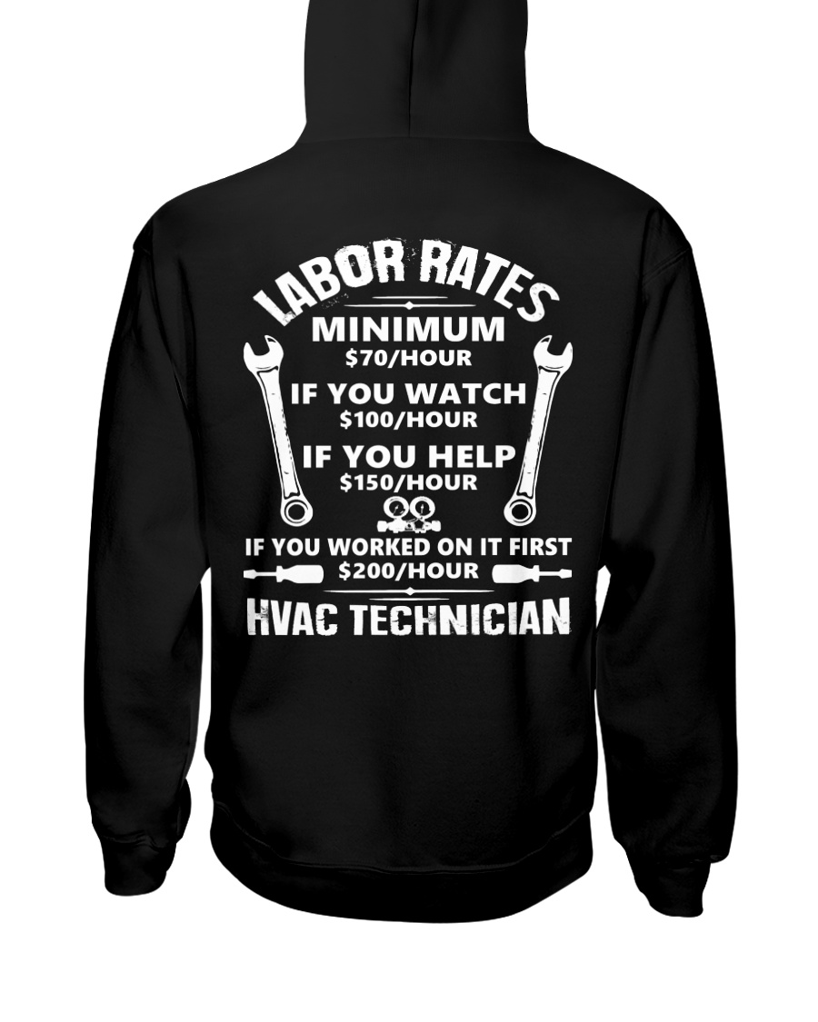 HVAC TECH RATE Hooded Sweatshirt
